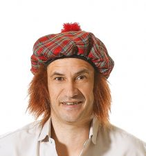 Tartan Army Scottish Tartan Hat & Ginger Hair